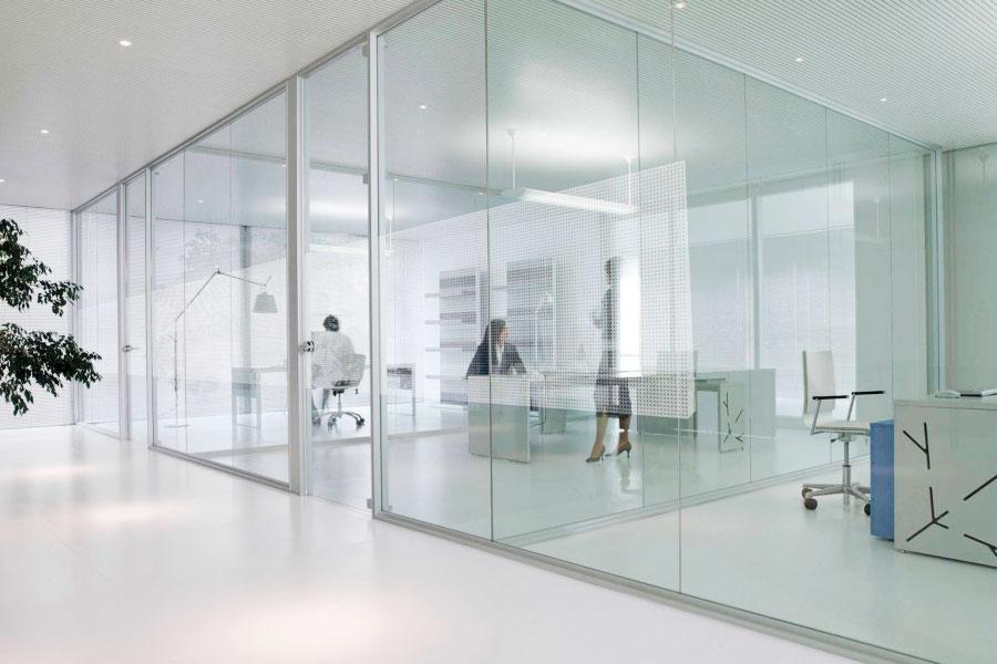 Pared de cristal interesting ejemplo bao con ducha de - Colocacion de bloques de vidrio ...